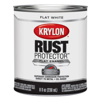 Krylon Rust Protector Flat White Half Pint 69107