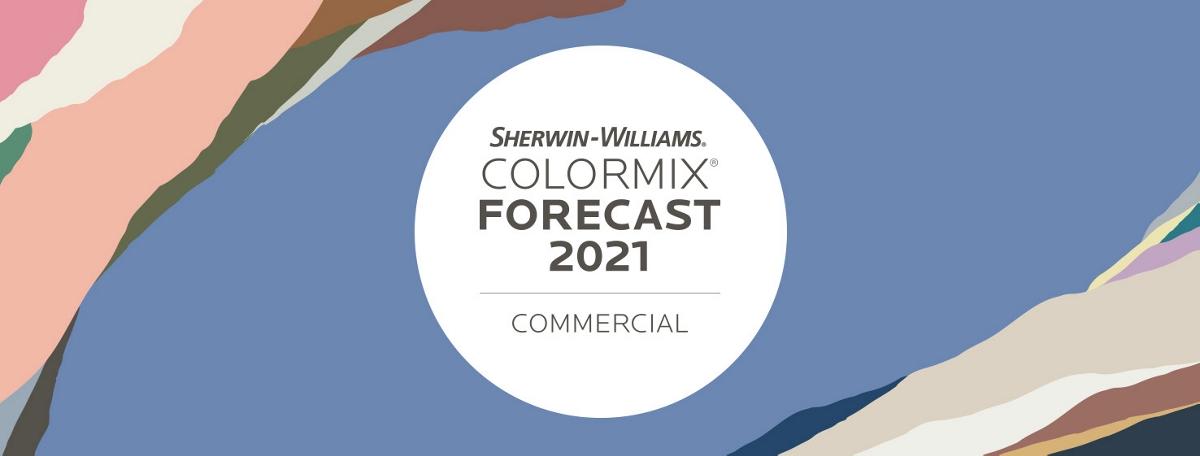 Палитра коммерческих цветов Sherwin-Williams на 2021 год